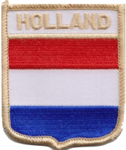 Netherlands 'Holland' Flag Shield Embroidered Patch (a106)